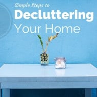 Five Simple Steps to Decluttering Your Home {Free Printable Planner}