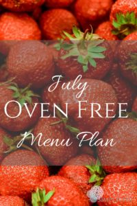 Pinterest July Menu Plan