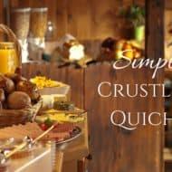 Simple Crustless Quiche