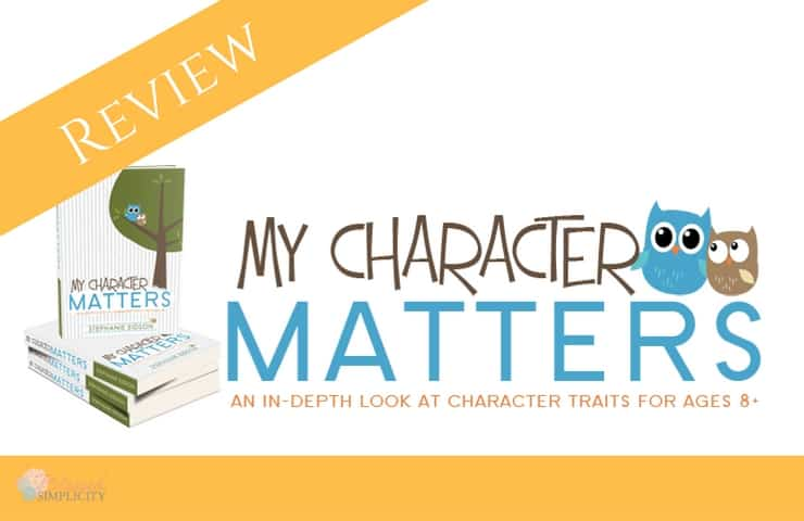 My Character Matters is a curriculum for studying attributes of a child's character.