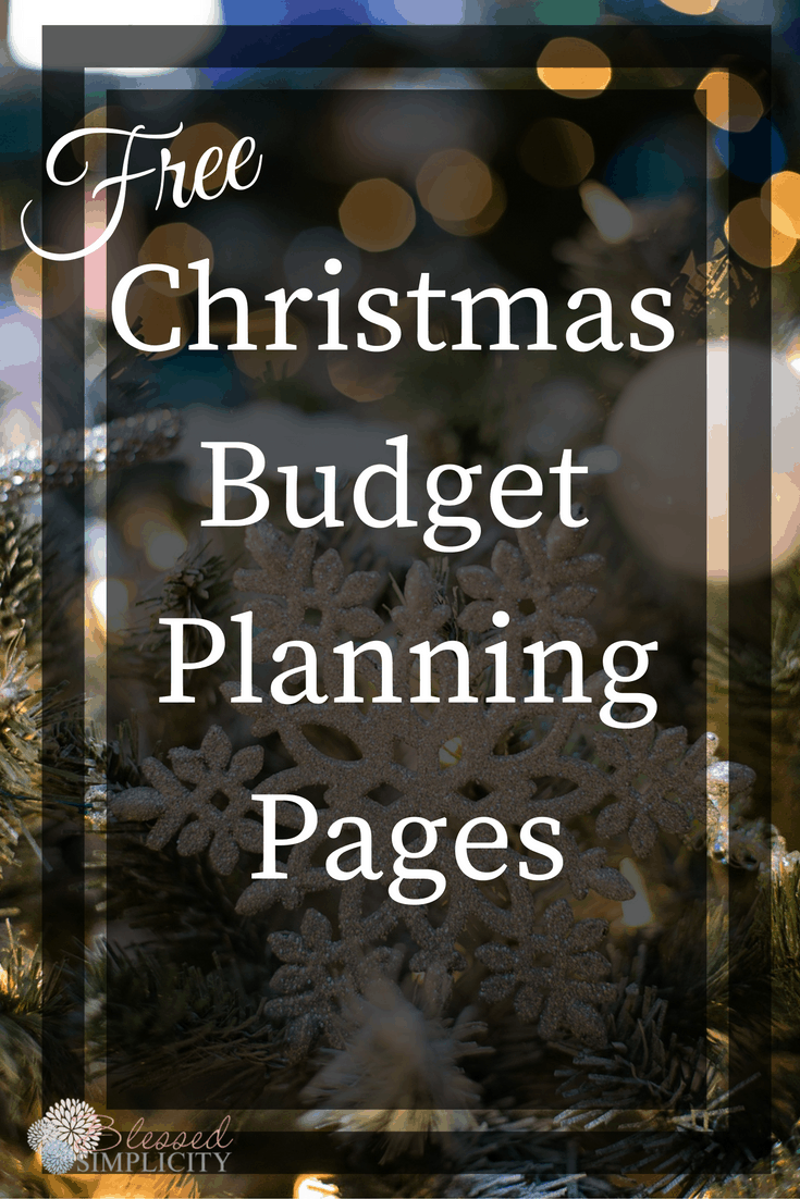 Have a more relaxed holiday season with these Christmas Budget Planning pages.