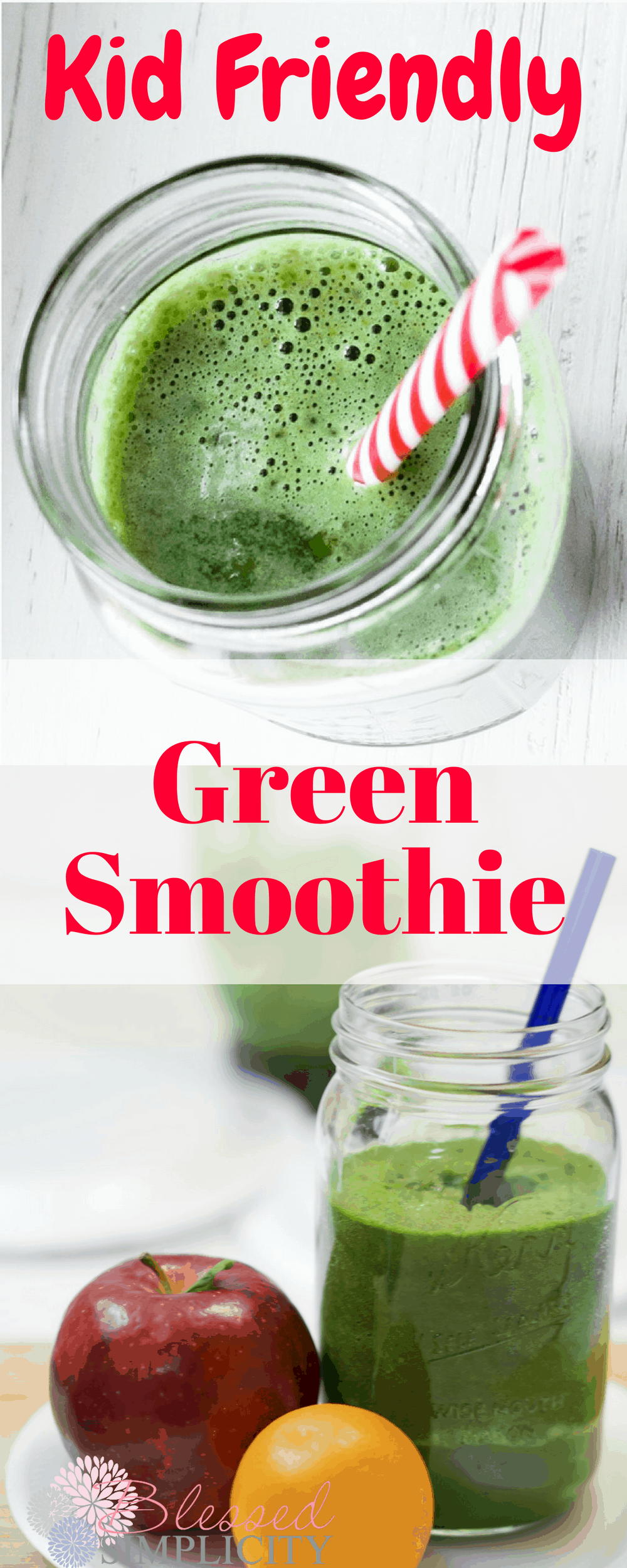 Kid Friendly Green Smoothie Recipe Blessed Simplicity