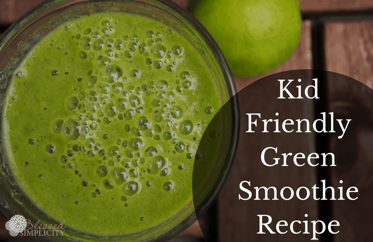Kid Friendly green smothie has tons of vitamins and minerals and still tastes great!