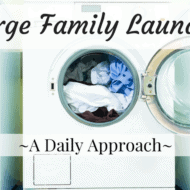 Large Family Laundry – A Daily Approach