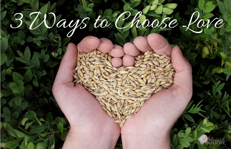 3 Ways to Choose Love is a part of the #rooteddevo series on RachaelCarman.com