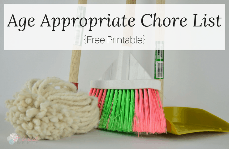 Amazingly useful lists of age appropriate chores for kids will have everyone helping with the housework!