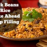 Black Beans and Rice Make Ahead Wrap Filling