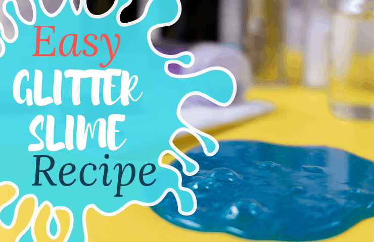 Have some serious sensory fun with this borax free glitter slime recipe. sensory slim |